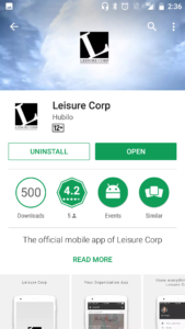 The Leisure Corp App